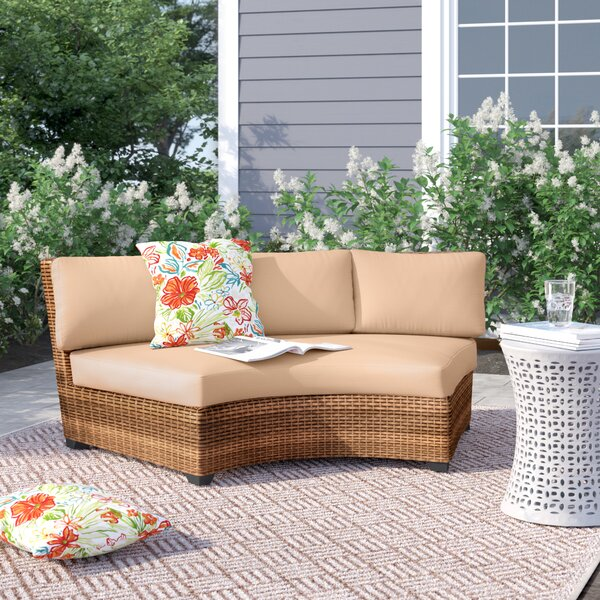 Waterbury Curved Sofa with Cushions by Sol 72 Outdoor