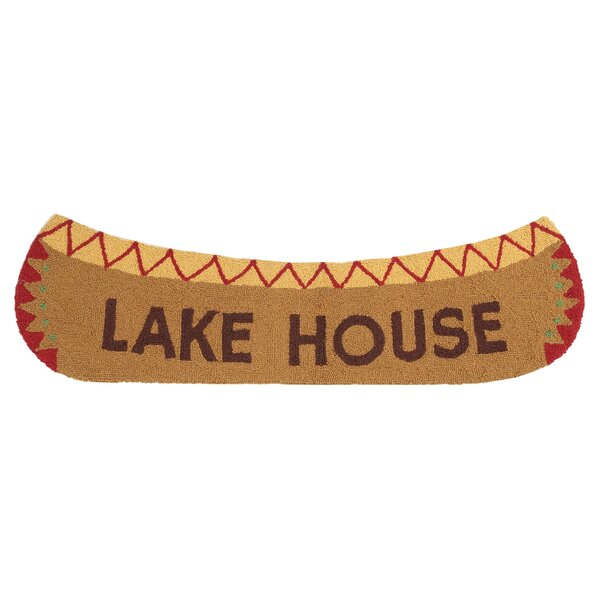 Lake House Hand-Woven Brown Area Rug by Peking Handicraft