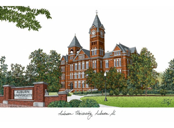 NCAA Campus Images Lithograph Photographic Print b