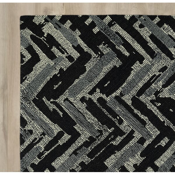Louane Hand-Tufted Black/Gray Area Rug by Brayden Studio