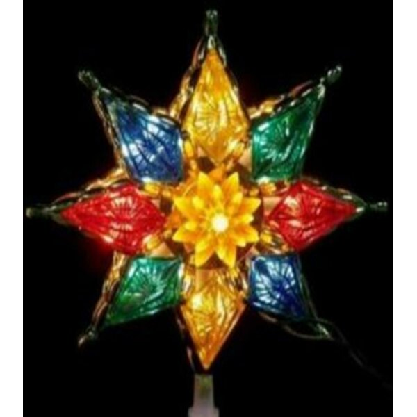 Clear Crystal Star Christmas Tree Topper by The Holiday Aisle