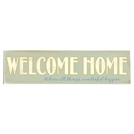 Welcome Home Textual Art Multi-Piece Image on Wood by Artehouse LLC