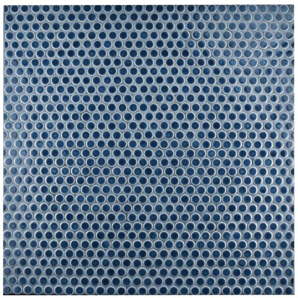 Penny 0.8 x 0.8 Porcelain Mosaic Tile in Denim Blue by EliteTile