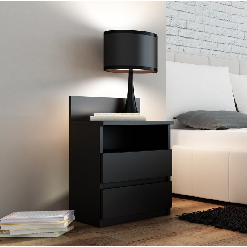 Ordonez 2 Drawer Bedside Table by 17 Stories