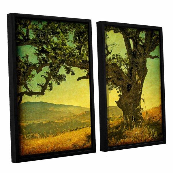 Blue Oak Hilltop 2 Piece Framed Graphic Art Set by Loon Peak