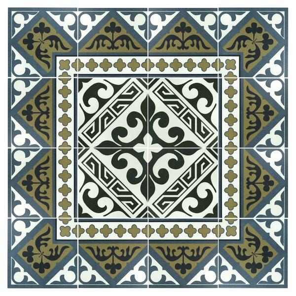 Seni Versalles 9.75 x 9.75 Porcelain Field Tile in Black by EliteTile