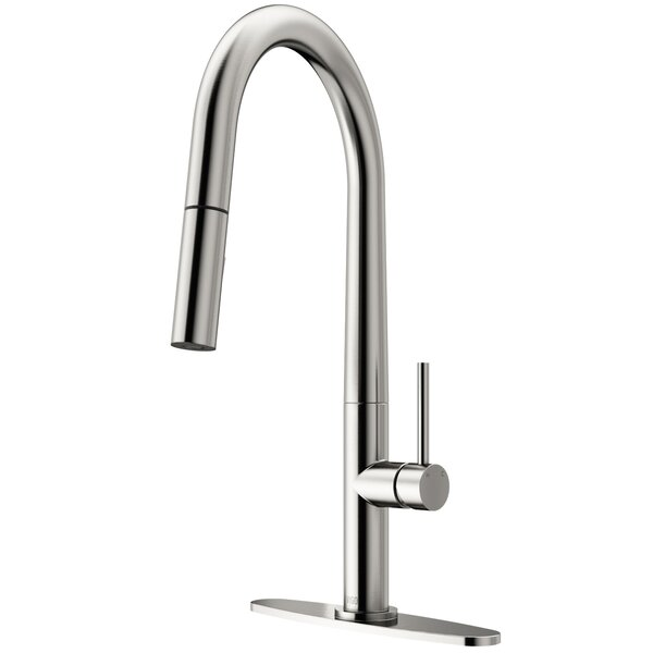Greenwich Pull Down Touch Single Handle Kitchen Faucet by VIGO
