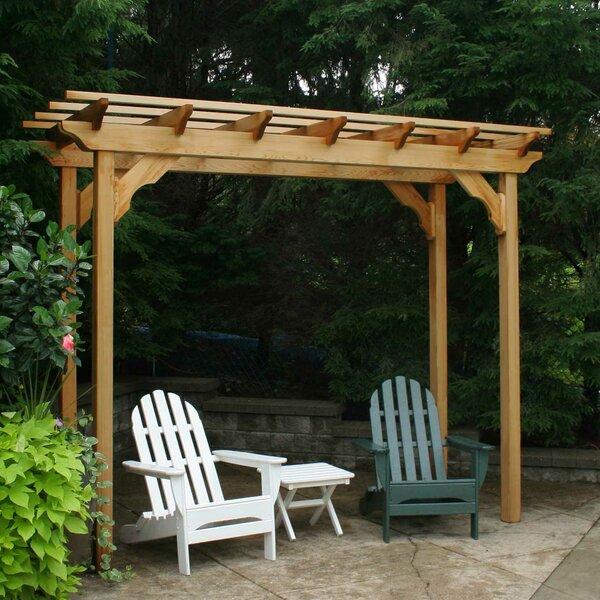 Cedar New Dawn 14 Ft. W x 4 Ft. D Solid Wood Pergola by Creekvine Designs