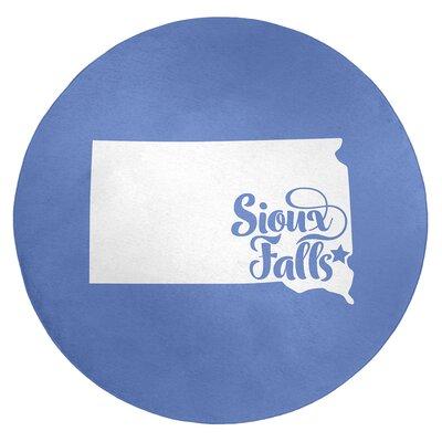 Sioux Falls South Dakota Poly Chenille Rug East Urban Home Rug Size: Round 5 -  24C10E73F1224D19AE4268E08E5CD886