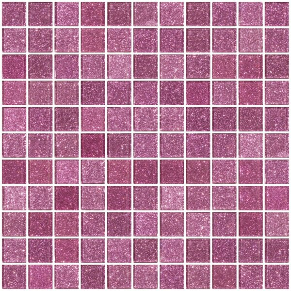 1 x 1 Glass Mosaic Tile in Barbie Pink by Susan Jablon