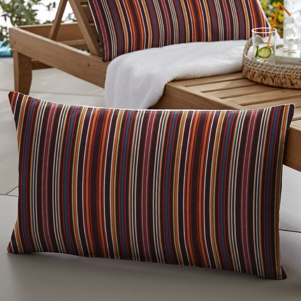 Beatrice Indoor/Outdoor Sunbrella Lumbar Pillow (Set of 2) by Winston Porter