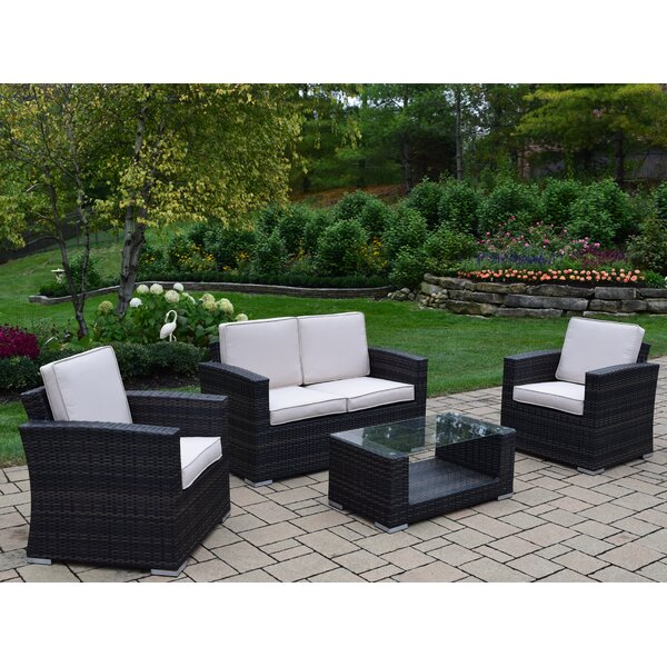 Borneo 4 Piece Sofa Set with Cushions by Oakland Living Oakland Living