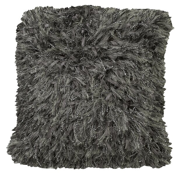 Urban Loft Shiny Shag Throw Pillow by Westex