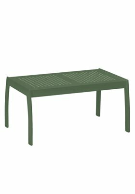 Boulevard  Aluminum Coffee Table by Tropitone