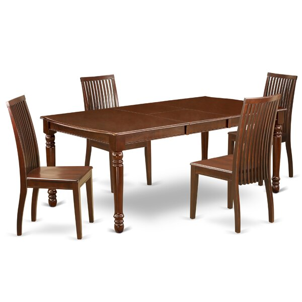 Josefina 5 Piece Extendable Solid Wood Dining Set by Alcott Hill Alcott Hill
