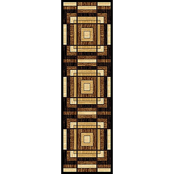 One-of-a-Kind Walter 3D Modern Brown/Beige Area Rug by Latitude Run
