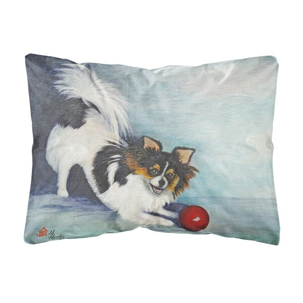 Mcdonough Chihuahua Play Ball Fabric Indoor/Outdoor Throw Pillow by Winston Porter