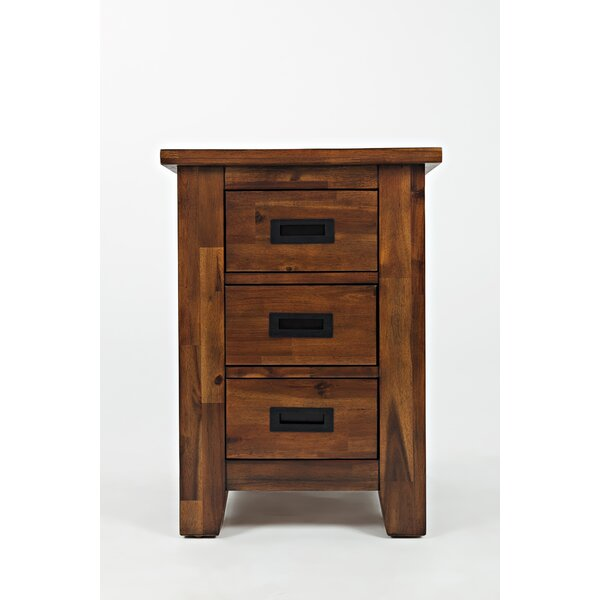 Salvador Wooden Cabinet Chairside End Table by Millwood Pines