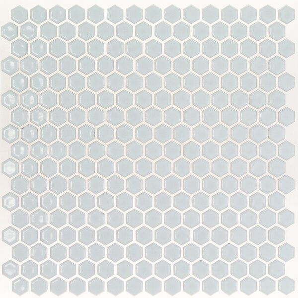 Bliss 0.6 x 0.6 Ceramic Mosaic Tile in Modern Gray by Splashback Tile