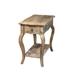 Check Prices Francoise Driftwood End Table With Storage By Lark Manor