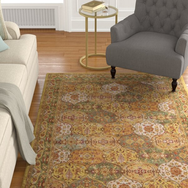 Barrick Green/Beige Area Rug by Astoria Grand