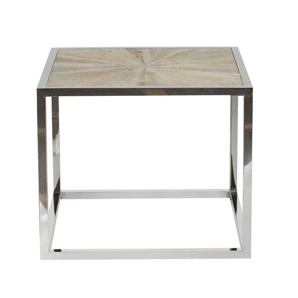 Paulsen Parquet End Table by Brayden Studio