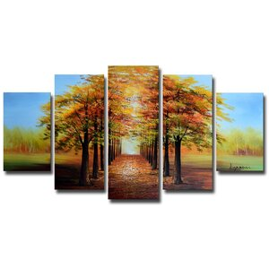 Warm Welcome' 5 Piece Painting on Wrapped Canvas Set by Design Art