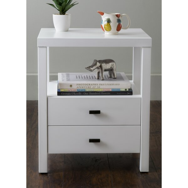 Sardina 2 Drawer Nightstand by Wrought Studio