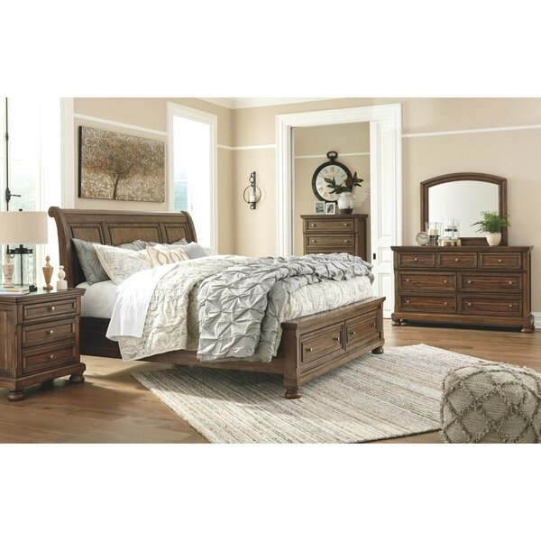 #1 Frias Sleigh Configurable Bedroom Set By Darby Home Co Today Only Sale