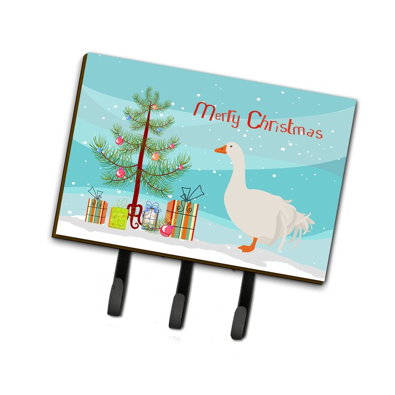 East Urban Home Bronxville Sebastopol Goose Christmas Wall Key Organizer With Key Hooks Wayfair