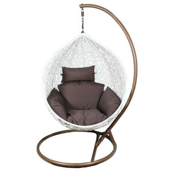 St Georges Swing Chair with Stand by Bungalow Rose Bungalow Rose