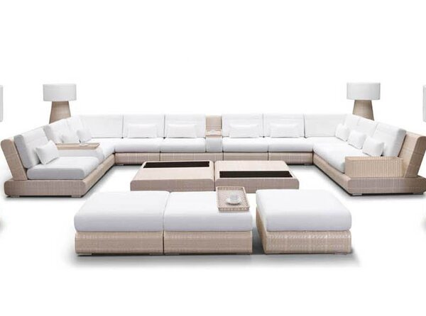 Sumba Sectional Sunbrella Seating Group with Cushion by 100 Essentials