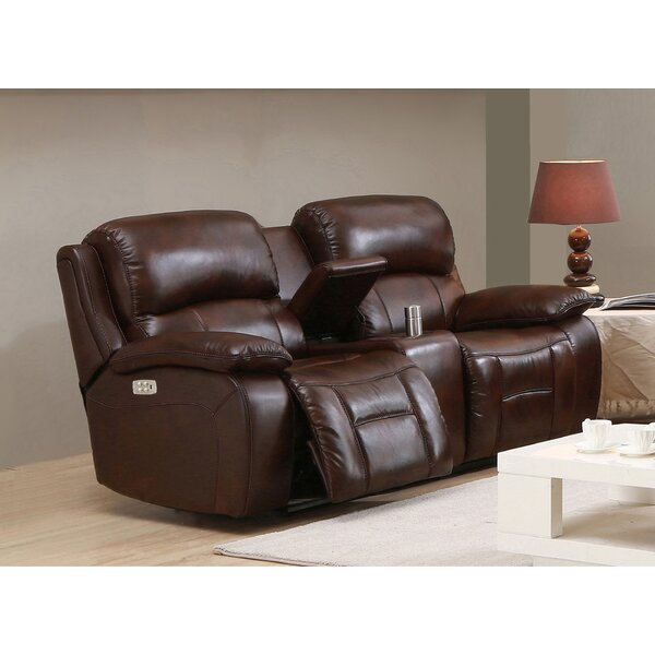 Review Garrano Leather Reclining Loveseat