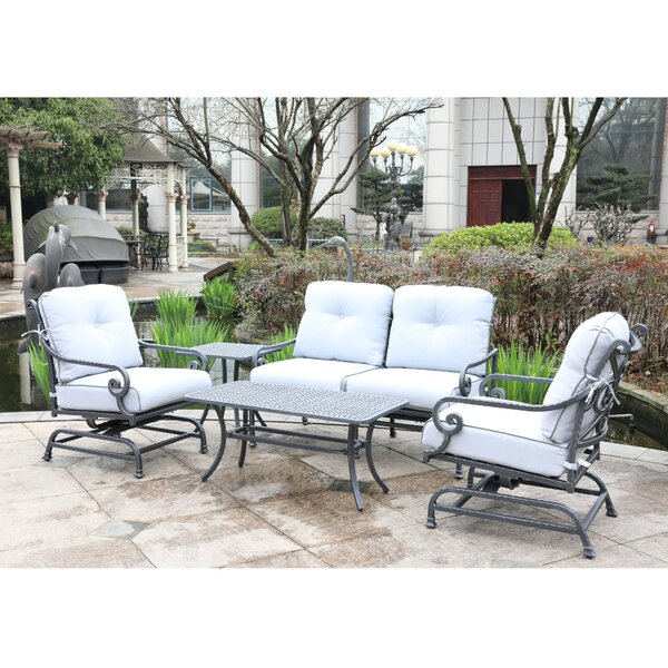 Waconia Sofa Seating Group with Cushions by Fleur De Lis Living