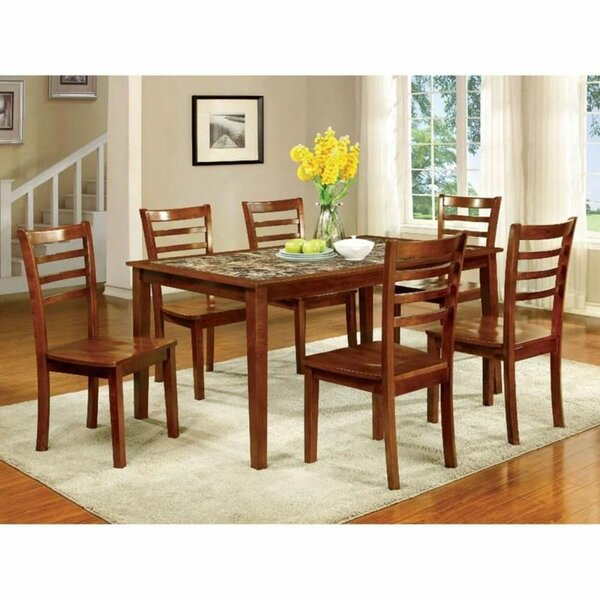 Grafton 7 Piece Solid Wood Dining Set by Canora Grey