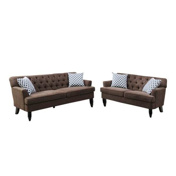 Lago Vista Velveteen 2 Piece Living Room Set by Alcott Hill