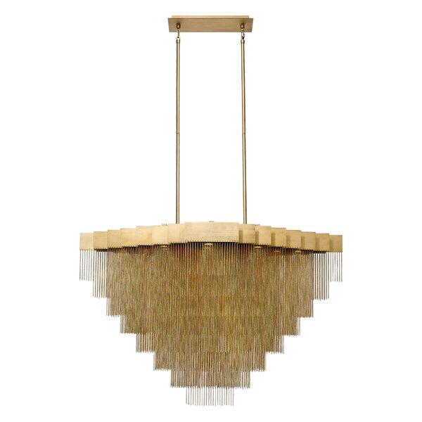 Trueblood 22 - Light Unique Drum LED Chandelier by Everly Quinn Everly Quinn