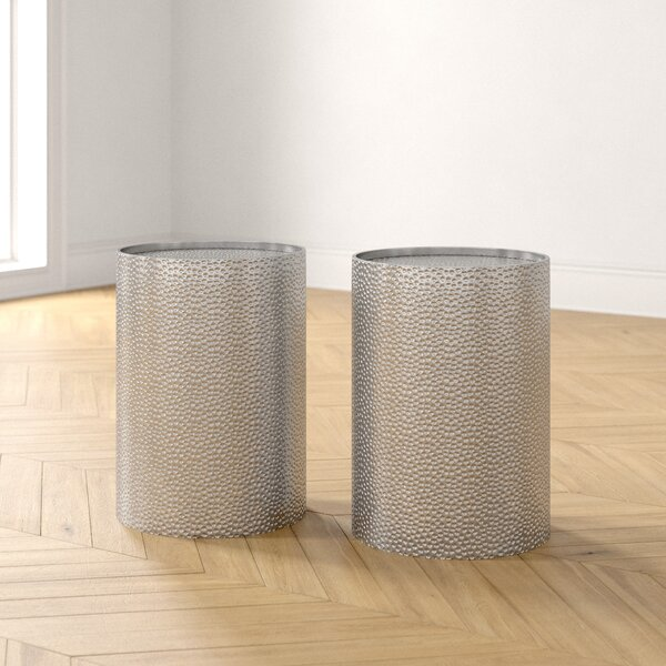 Zadie Drum End Table Set (Set Of 2) By Foundstone