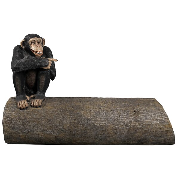 Monkey See Monkey Do Chimpanzee Sculptural Resin Garden Bench by Design Toscano
