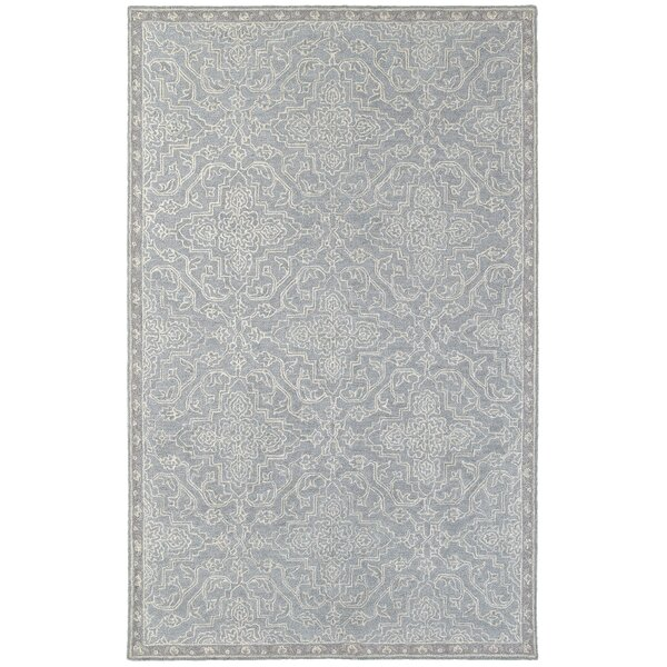 Sirois Hand-Tufted Medallion Gray/Blue Area Rug by One Allium Way