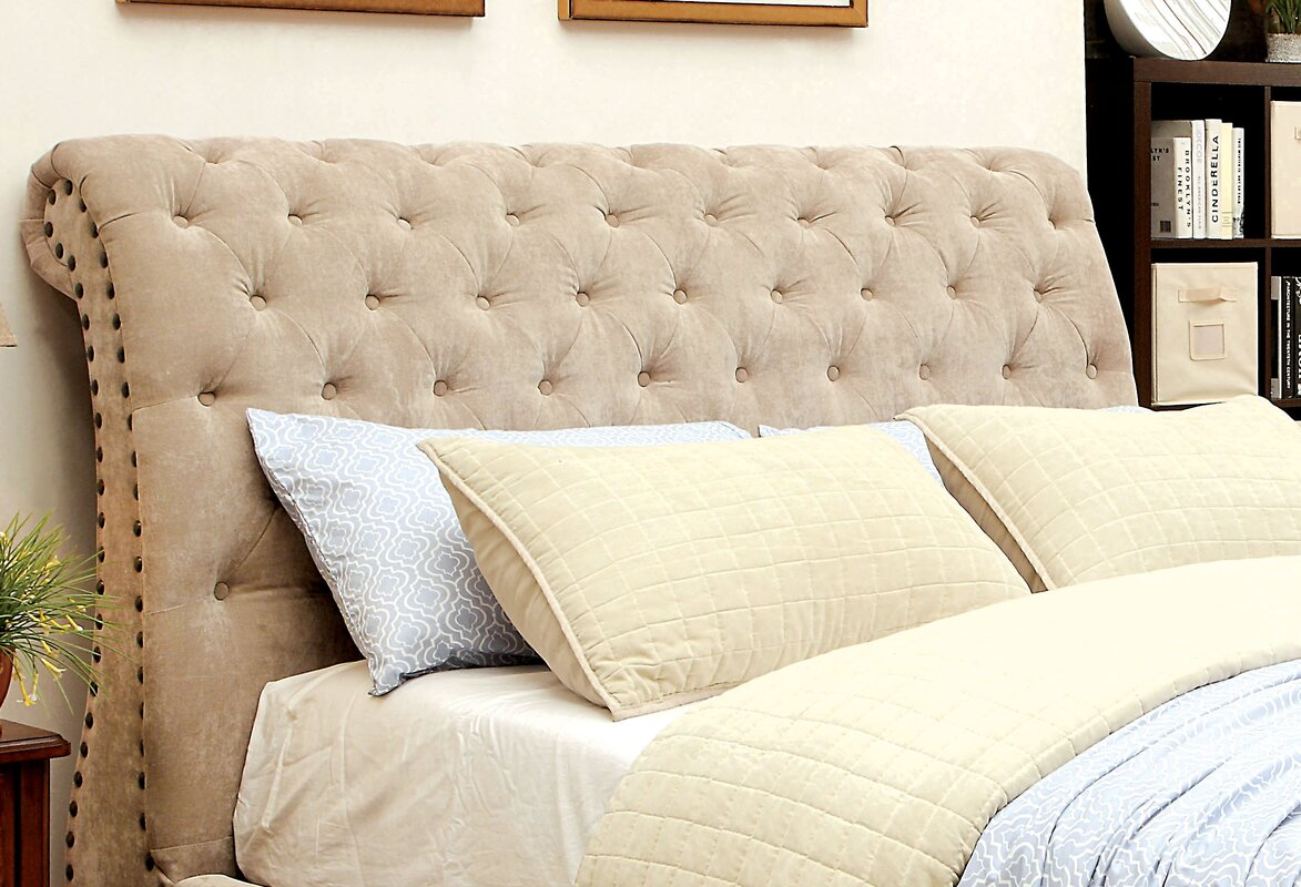 Darby Home Co Harrison Upholstered Sleigh Bed & Reviews