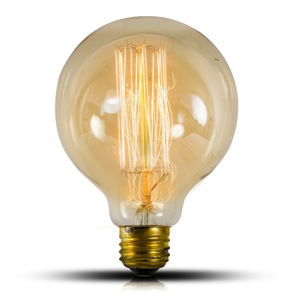 40 W E26/Medium (Standard) Incandescent Vintage Filament Light Bulb (Set of 4) by Crystal Art Gallery