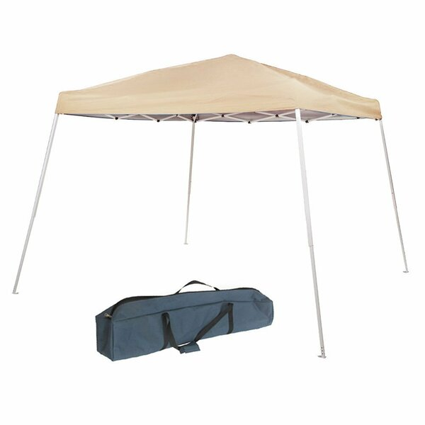 Slant Leg Instant Easy 8 Ft. W x 8 Ft. D-Feet Steel Pop-Up Canopy by Abba Patio
