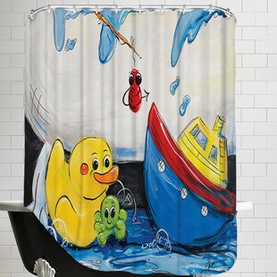 Rubber Ducky And Boat Shower Curtain