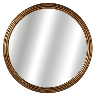 Breakwater Bay Welborn Antique Round Accent Mirror