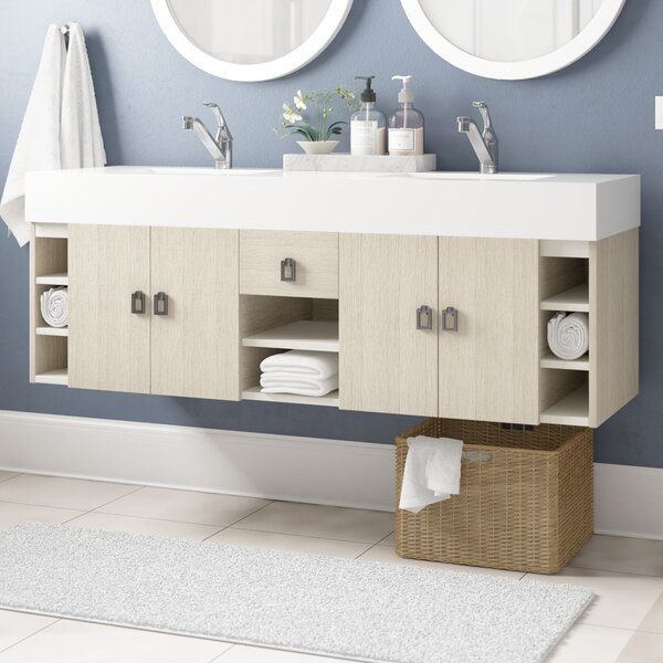 Villegas 59 Double Bathroom Vanity Set by Ivy Bronx
