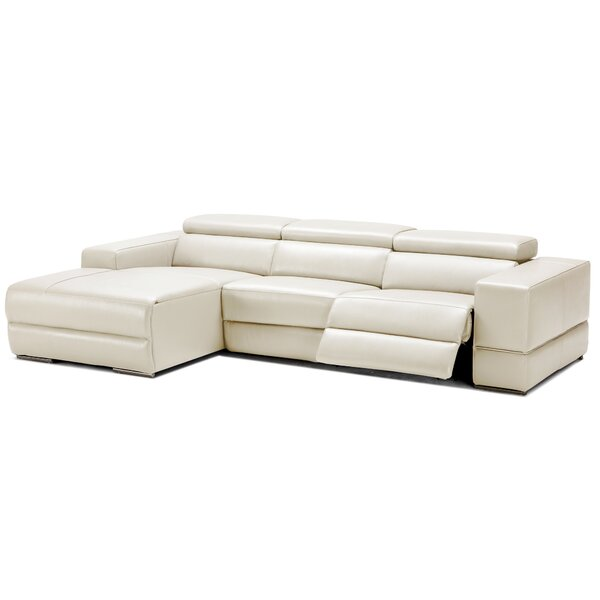 Galena Leather Reclining Sectional by Wade Logan