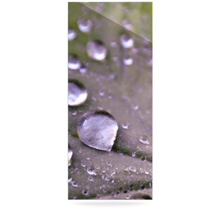 'Water Droplets Purple' Photographic Print on Metal by East Urban Home