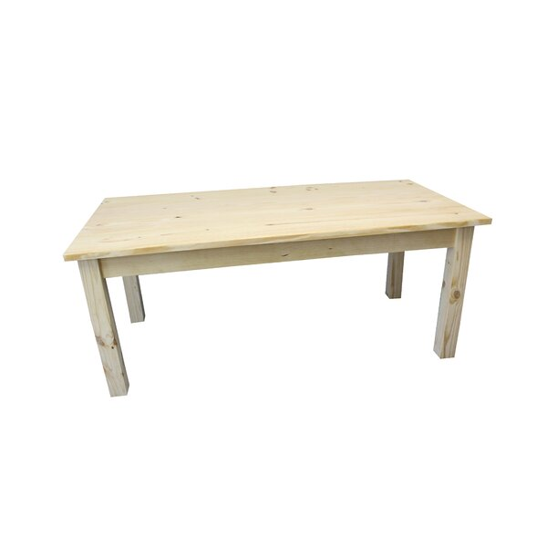 Modern Dejardins Unfinished Solid Wood Dining Table By Loon Peak Coupon