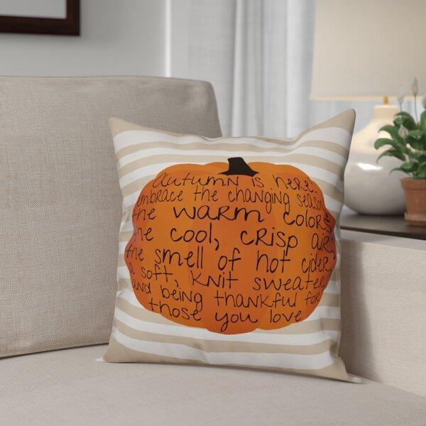 Embrace Autumn Throw Pillow by The Holiday Aisle